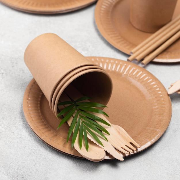 Vaisselle Jetable écologique Zéro Déchet Photo gratuit