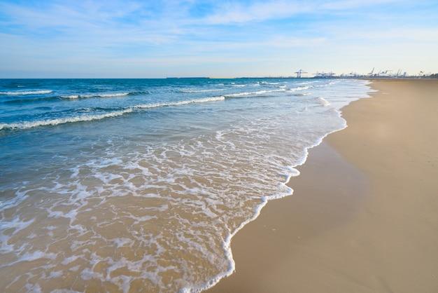 Valencia la malvarrosa arenas beach espagne Photo Premium