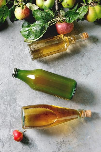 Variété de boissons aux pommes Photo Premium
