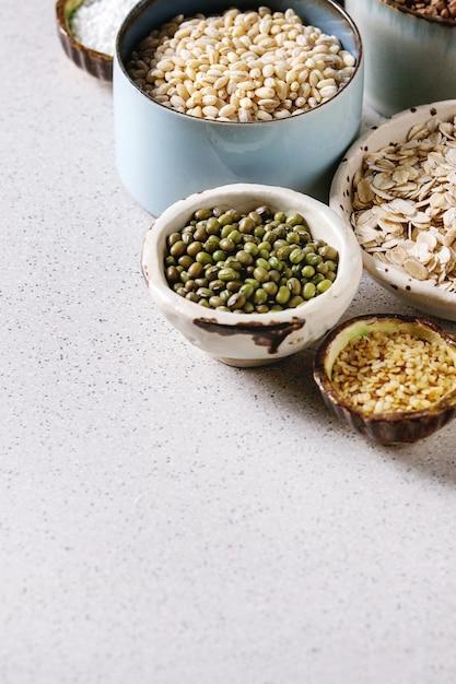 Variété de grains Photo Premium