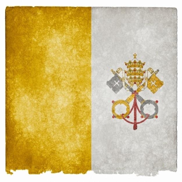 Vatican Flag Grunge Photo gratuit