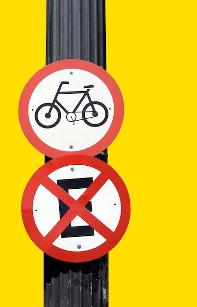 Vélos de signalisation routière Photo Premium