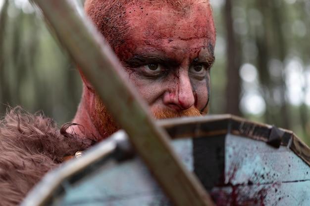 Véritable viking à la campagne Photo Premium