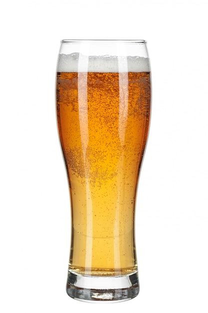 Verre de bière isolé Photo Premium
