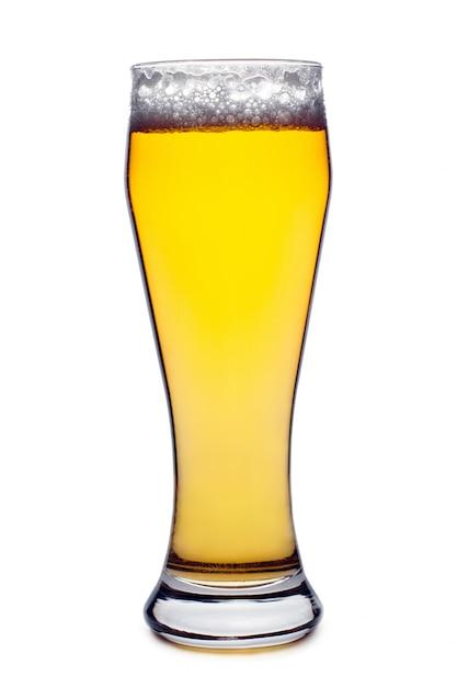 Verre à bière isolé Photo Premium