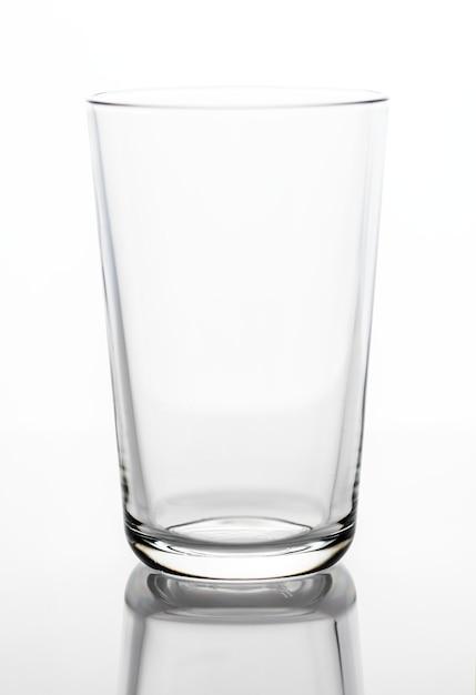 Verre à boire vide photo macro Photo gratuit