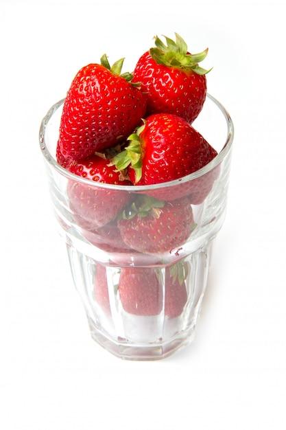 Verre à la fraise rouge Photo Premium