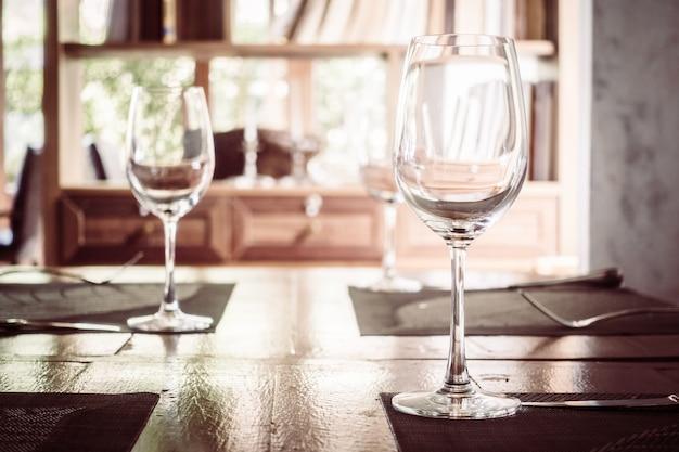 Verre à vin vide Photo gratuit