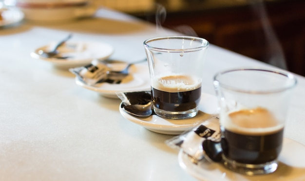 Verres de café Photo Premium