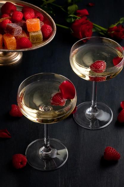 Verres de champagne de fête Photo Premium