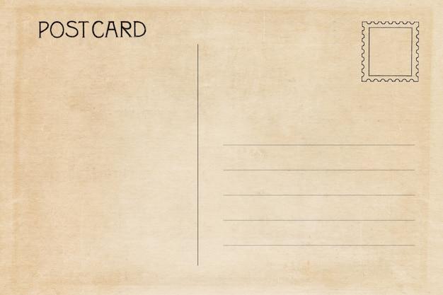 Verso D'une Carte Postale Vierge Vintage   Photo Premium
