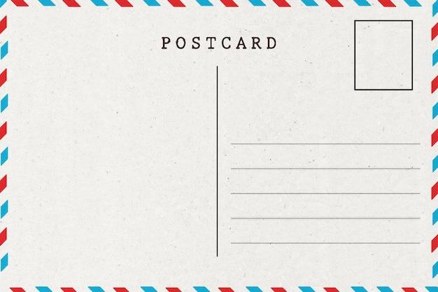 Verso de la carte postale. | Télécharger des Photos Premium