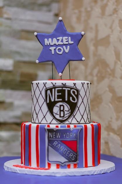 Vêtement rituel de gâteau juif Photo Premium