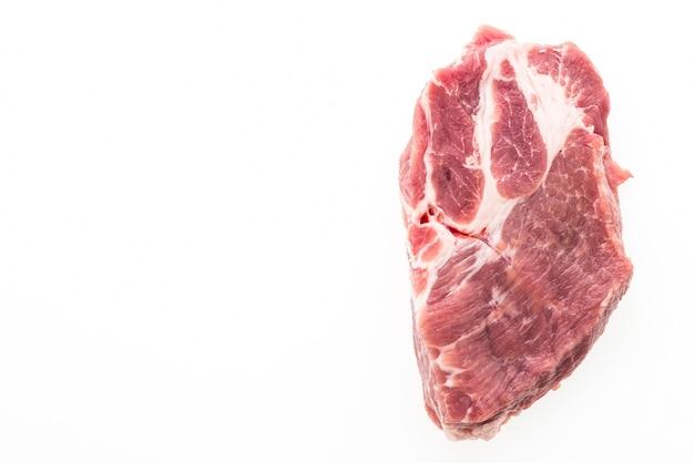 Viande de porc crue isolé Photo gratuit