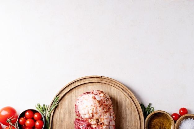 Viande de porc crue Photo Premium