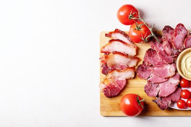 Viande de porc cuite Photo Premium