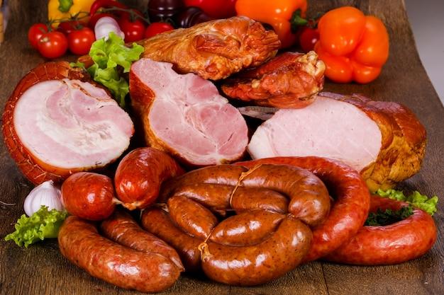 Viande de porc fumée Photo Premium