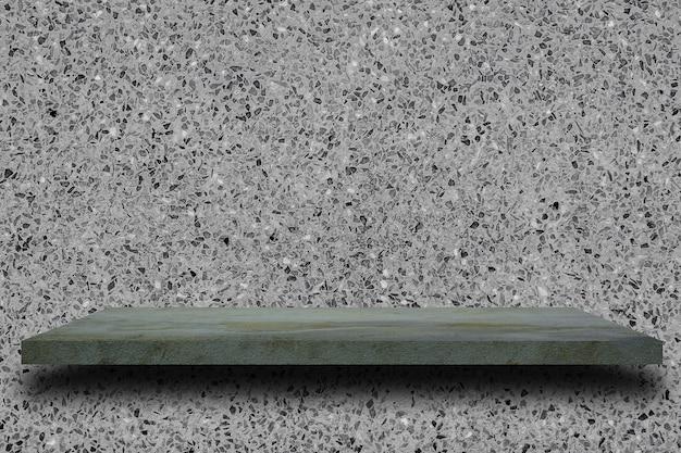 Vide étagère en béton sur la vieille texture de mur en béton gris. Photo Premium
