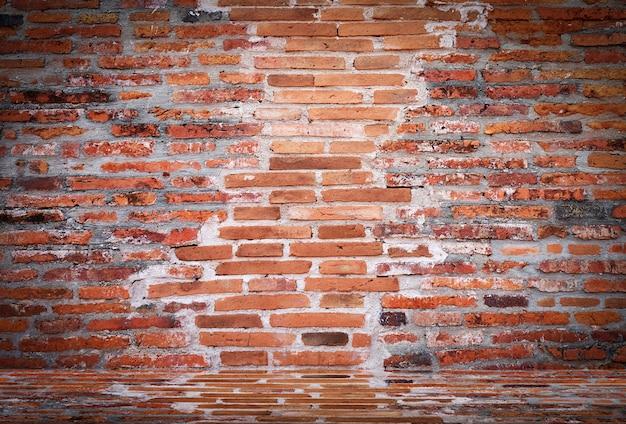 Vide vieux mur de briques vintage texture Photo Premium