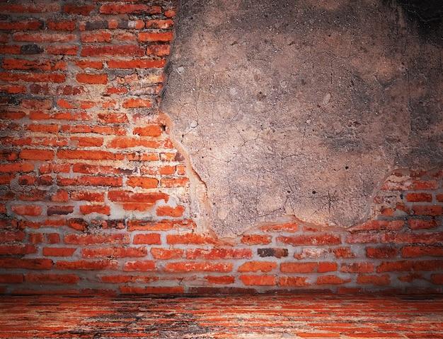 Vider vieille texture de mur de briques vintage. fond grunge. espace de copie. Photo Premium