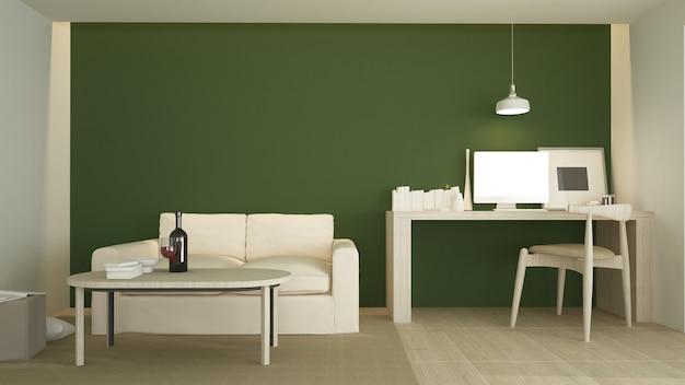 La Vie Intérieure Minimale Dans L'appartement Et Le Style De Fond Rendu 3d Photo Premium