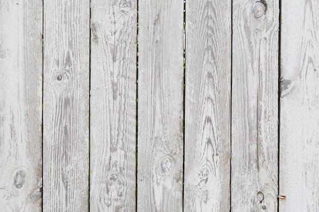 Vieille clôture de bois grise peinte Photo Premium