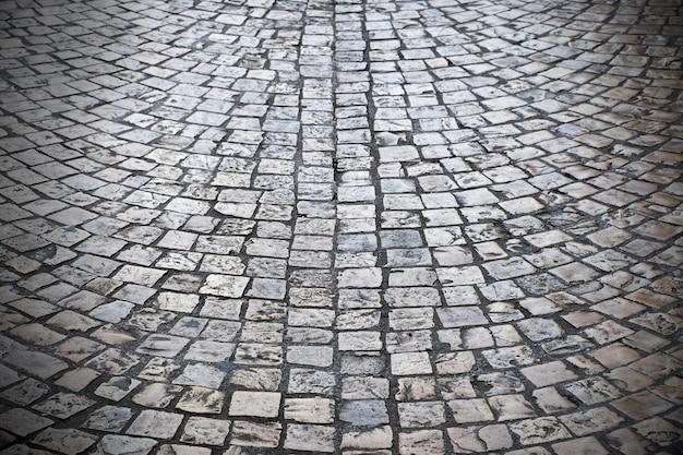 Vieille rue pavée texture d'arrière-plan vignette sombre Photo gratuit