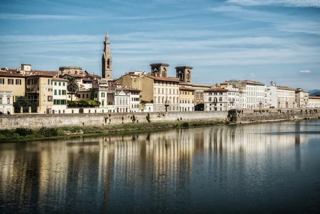 Vieille Ville De Florence - Italie Photo Premium