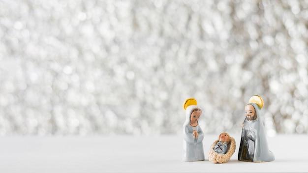 Vierge marie avec l'enfant jésus et saint joseph Photo gratuit