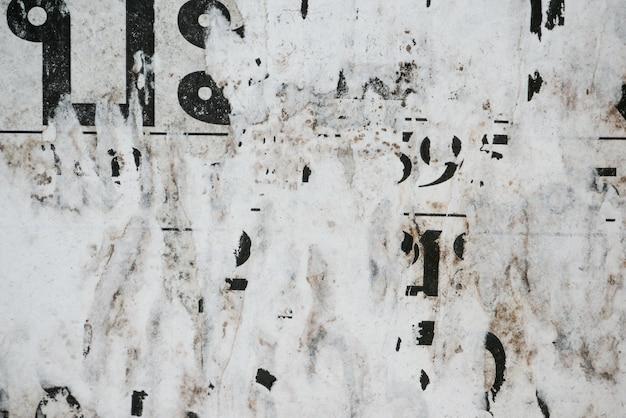 Vieux affiches grunge papier surface texture fond Photo Premium