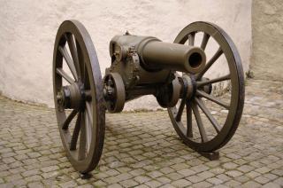 Un vieux canon, roues Photo gratuit