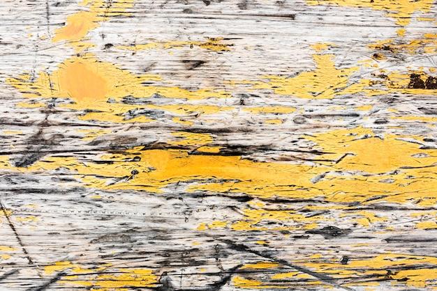 Vieux design de fond texturé en bois jaune Photo Premium