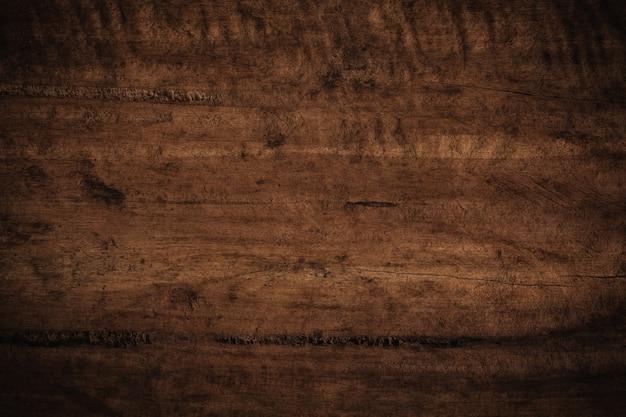 Vieux Fond En Bois Texturé Sombre Grunge. Photo Premium
