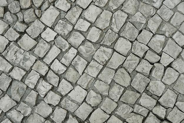 Vieux fond de chaussée de pierre grise Photo Premium