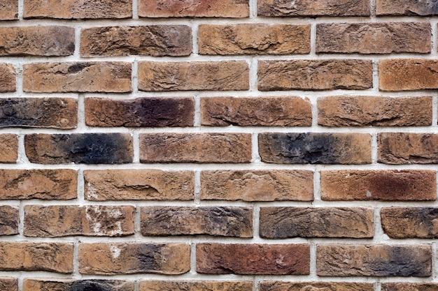 Vieux fond de mur de briques grunge vintage Photo Premium
