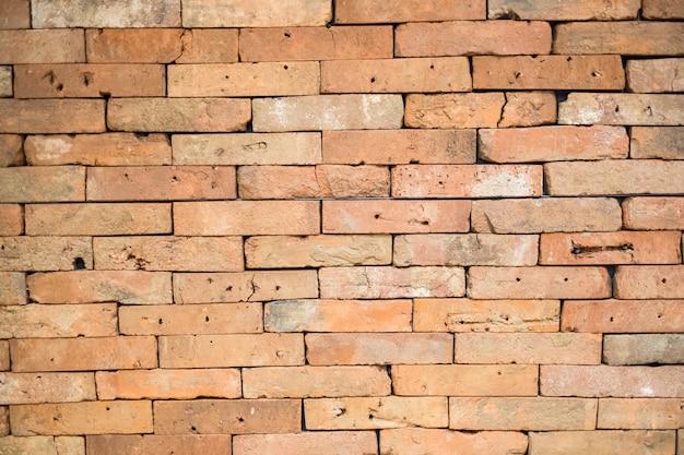 Vieux fond de texture de mur de briques rouges Photo Premium