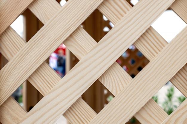 Vieux fond de treillis en bois Photo Premium