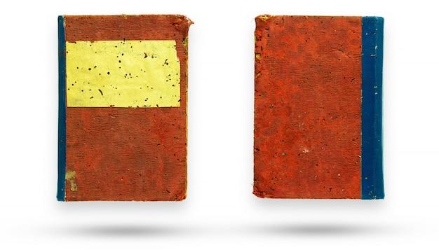 Vieux livre avec couverture en toile rouge Photo Premium