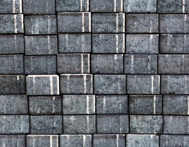 Vieux mur de briques grises texture fond Photo gratuit