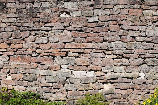 Vieux mur de briques (pierre, fond, texture) Photo Premium