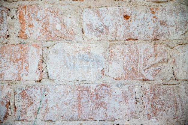 Vieux mur de briques vintage Photo Premium