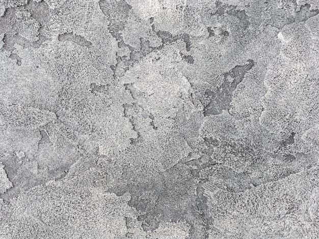 Vieux Mur Gris Recouvert De Plâtre Inégal. Texture De Surface En Pierre Argent Minable Vintage, Gros Plan. Photo Premium