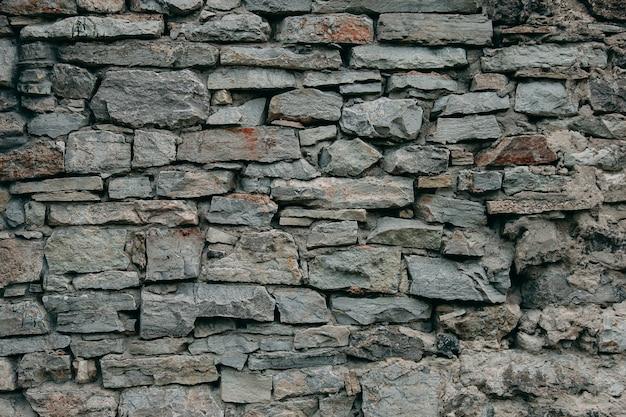 Un Vieux Mur Médiéval En Pierre, Un Fond Naturel, Une Réplique Du Cosmos. Photo Premium