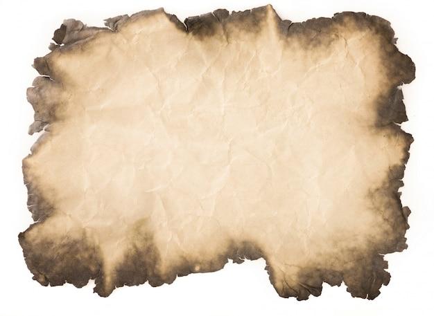 Vieux papier vintage âgé ou texture sur fond blanc Photo Premium