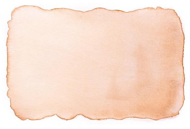 Vieux Papier Vintage Vieilli à L'aquarelle. Photo Premium