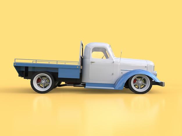 Vieux pickup restauré. pick-up dans le style de hot rod. illustration 3d Photo Premium