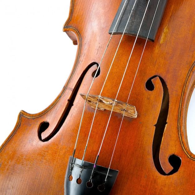 Vieux violon en bois Photo Premium