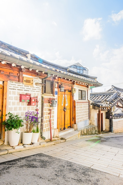 Village de bukchon hanok Photo gratuit