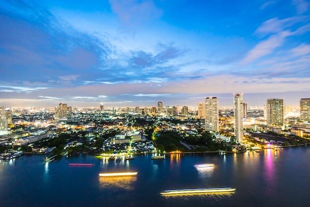 Ville de bangkok la nuit Photo gratuit