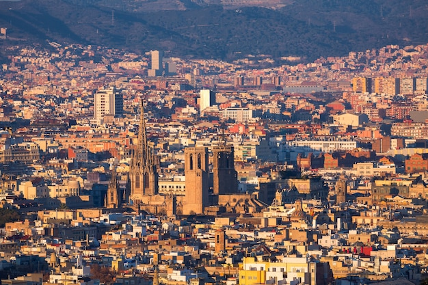 Ville de barcelone Photo Premium